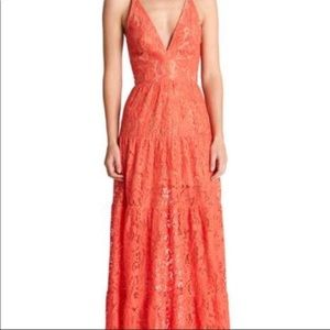 Floral Lace Maxi- Dress the Population Melina